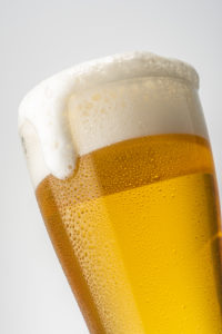 Beer white background 1